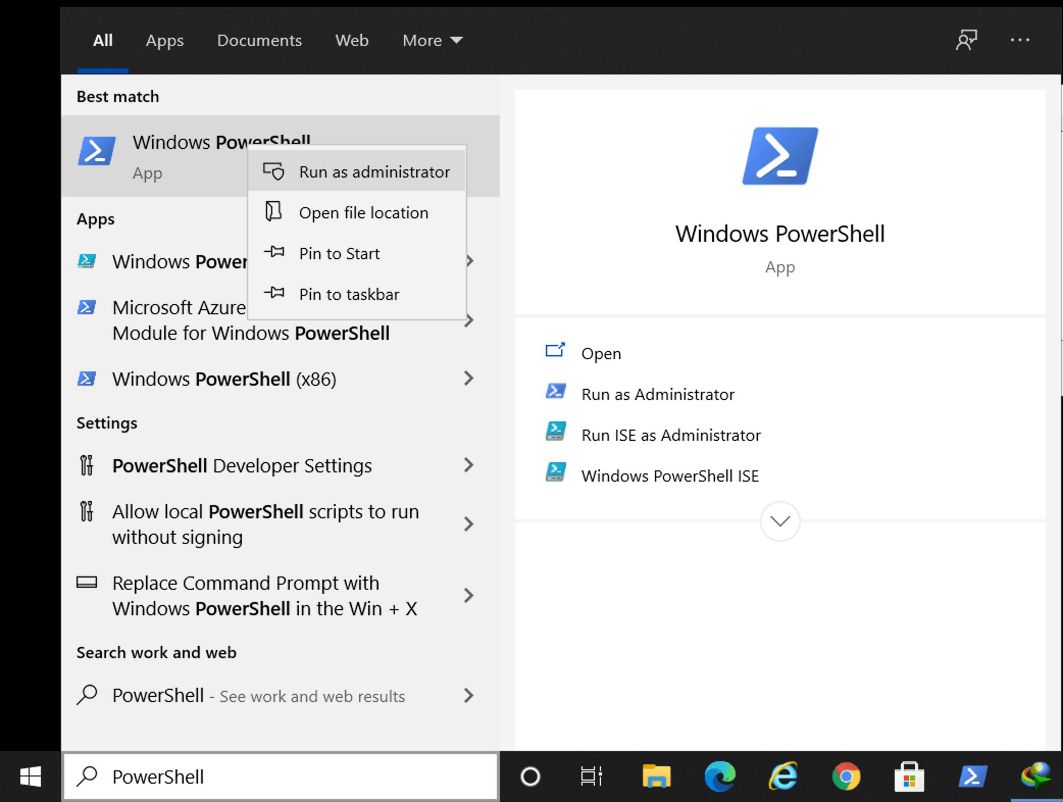 PowerShell in Windows