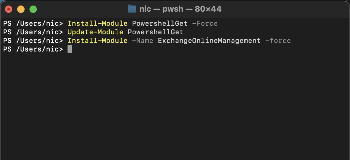 PowerShell on MacOS