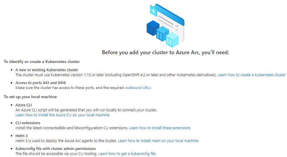 Azure Arc-enabled Kubernetes requirements