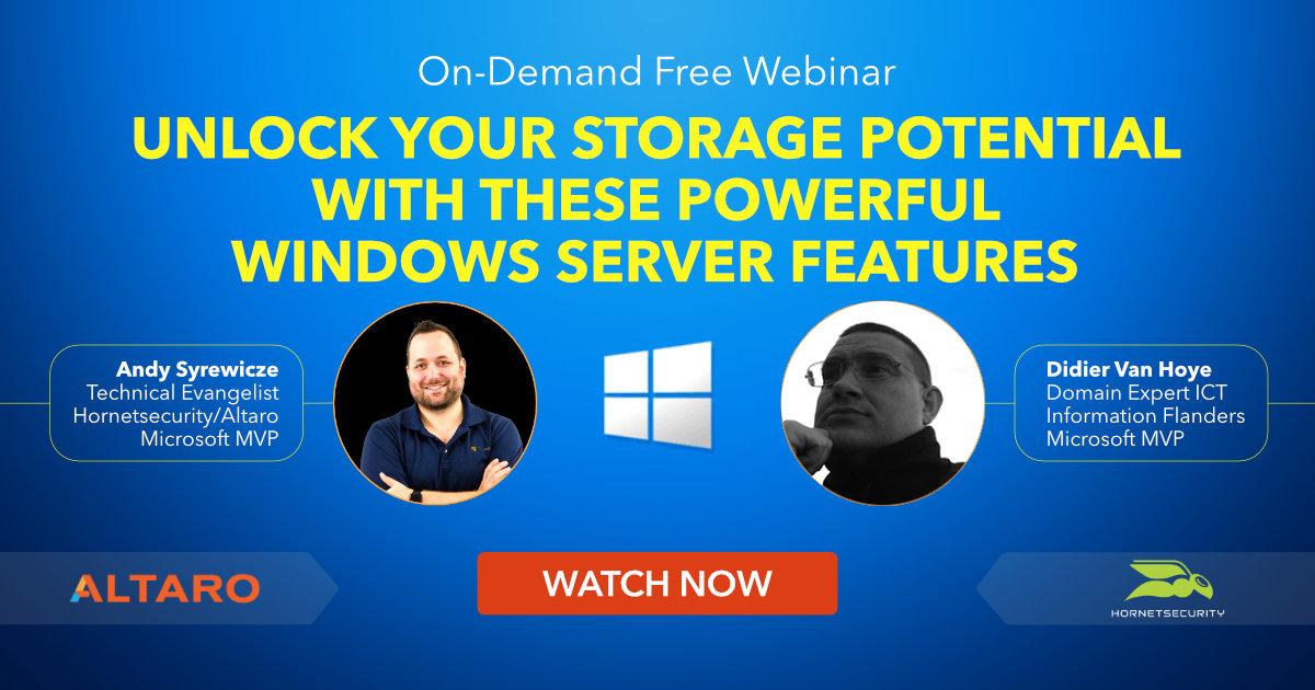 On-Demand Webinar - Windows Server Storage