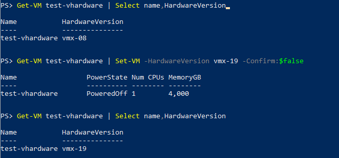 Use the new 'HardwareVersion' property and parameter as 'Version' is deprecated