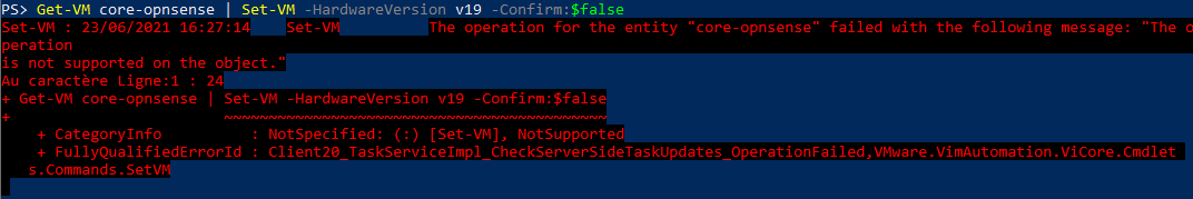 Invalid Compatibility versions will throw an exception