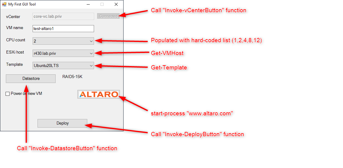 GUI Utility functions