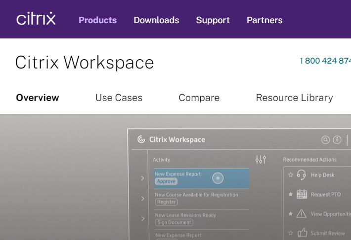 Citrix provides a well-known desktop virtualization platform