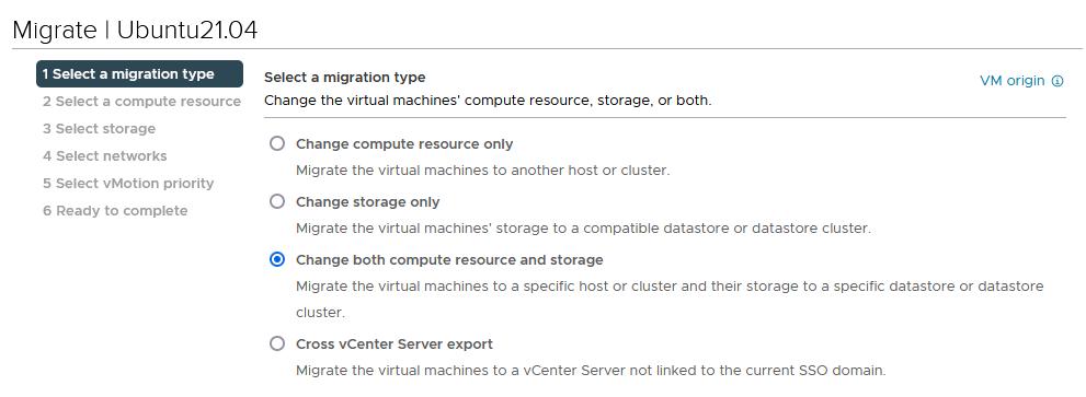 Change both compute resource and storage