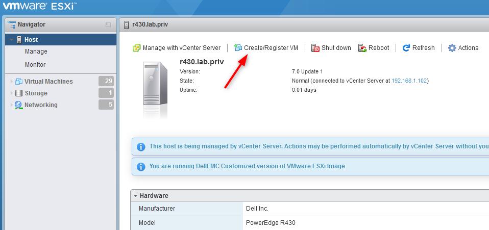 Create Register VM
