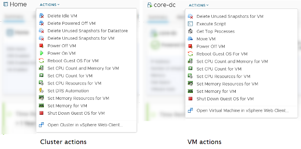 vROPS actions