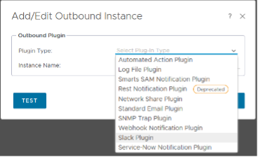 Outbound Plugins vROPs